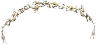 Halo & Co A Delicate Headband Of Golden Leaves And Tiny Diamontees