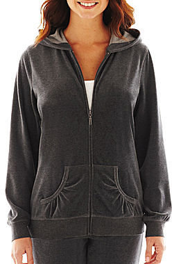 JCPenney Made For Life Velour Hoodie - Talls