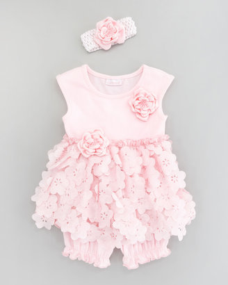 cachcach Tiny Trousseau Floral Petals Dress and Bloomer Set