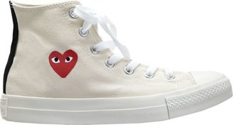 Comme des Garcons Women's Chuck Taylor High-Top Sneakers-White Si