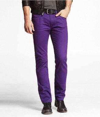 Express Rocco Colored Slim Fit Skinny Leg Jean-Purple