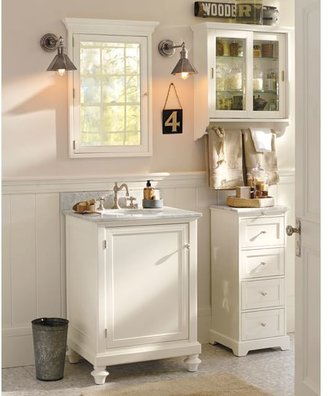 Pottery Barn Marble-Top Sundry Tower