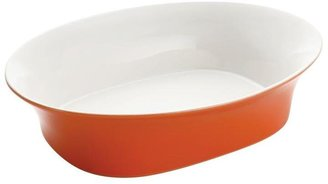 Rachael Ray Round and Square 14 in. Oval Serving Bowl Orange