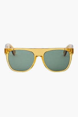Super Yellow clear Flat Top Amber sunglasses