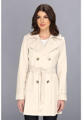 DKNY Double Breast Flounce Trench (Muslin) - Apparel