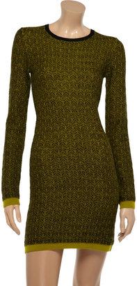 A.L.C. Clea wool jacquard sweater dress