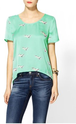 Collective Concepts Bird Print Blouse