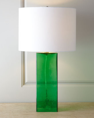Horchow Glass Base Table Lamp