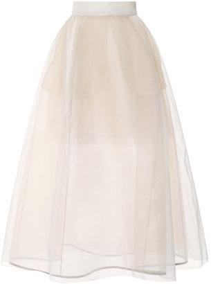DELPOZO Sheer Full Skirt