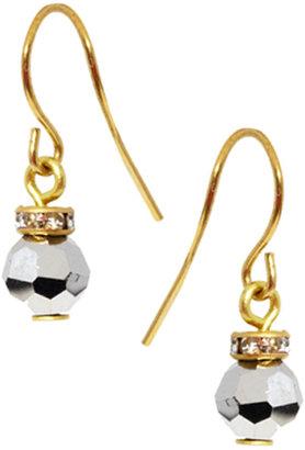 Orelia Faced Bead & Rondell Friendship Earrings