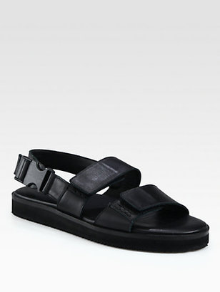 Christopher Kane Leather Double Strap Sandals