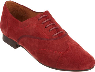 Lanvin Suede Stitched Wingtip Oxford