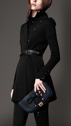 Burberry Ribbed Knit Pea Coat