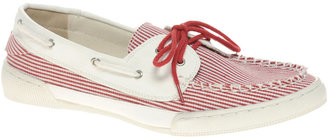 Asos MARINE Striped Boat Shoes