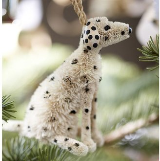 Pottery Barn Bottlebrush Dalmatian Ornament