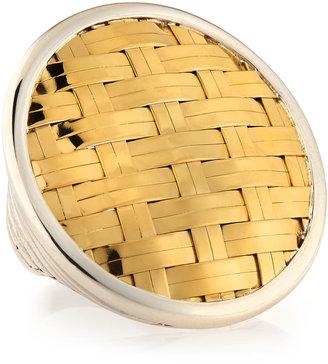 John Hardy Gold Basket-Weave Ring, Size 7