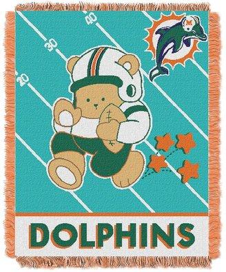 Miami dolphins baby jacquard throw
