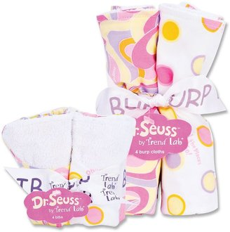 """Trend Lab Dr. Seuss """"Oh, The Places You'll Go!"""" 8-pc. Bib & Burp Cloth Set by Pink"""