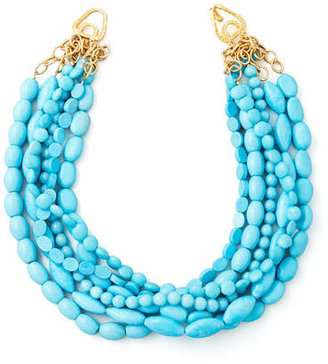 Moon and Lola Multi-Strand Turquoise Magnesite Necklace $285 thestylecure.com