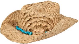 Melissa Odabash Natural Elle Cowboy Hat