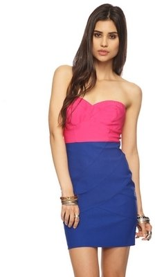 Forever 21 Colorblocked Sweetheart Dress