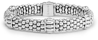 Women's Lagos Fluted Station Caviar Rope Bracelet $395 thestylecure.com