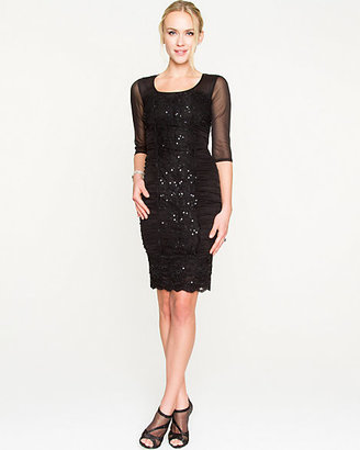 Le Château Lace Mesh Fitted Dress