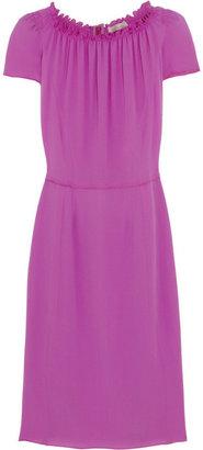 Nina Ricci Ruched silk dress