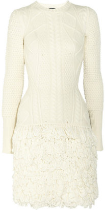 McQ by Alexander McQueen Cable-knit wool dress
