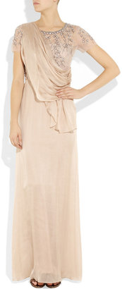 Temperley London Fern embellished silk-chiffon and tulle gown