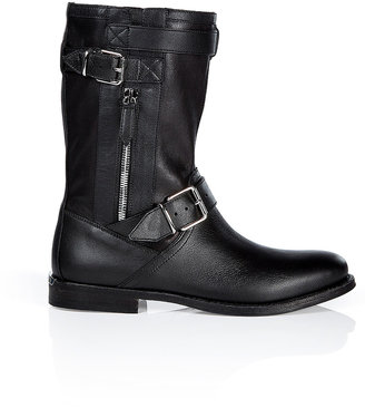 Burberry Shoes & Accessories Suede Buckle Detailed Grantville Boots