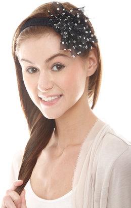 n/a Black Polka Dot Headband