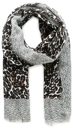 Violeta BY MANGO Leopard Cotton Scarf