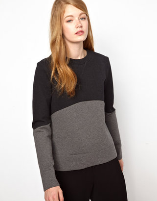 BZR Bonded Jersey Top with Color Block Detail