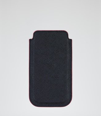 Reiss Field LEATHER IPHONE HOLDER