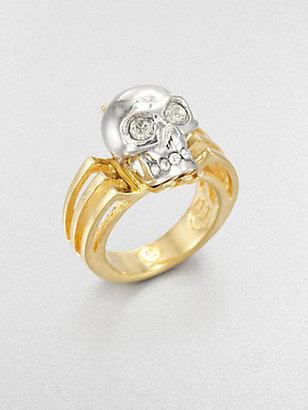 Alexander McQueen Deco Skull Ring