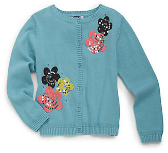Hartstrings Toddler's & Little Girl's Floral Embroidered Cardigan