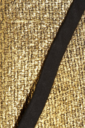 Metallic bouclé pencil skirt