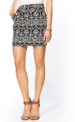 Juicy Couture Sabine Geo Jacquard Mini Skirt
