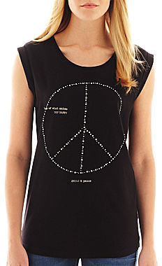MNG by Mango Peace Sign Tee
