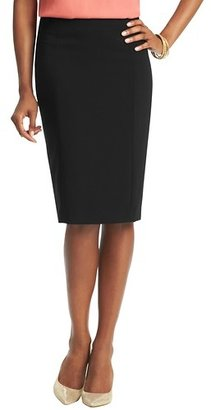 LOFT Elongated Pencil Skirt in Mid Weight Scuba
