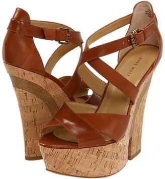 Nine West Caridad (Dark Natural Leather) - Footwear