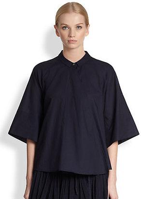 Christophe Lemaire Cotton Muslin Wrapover Shirt