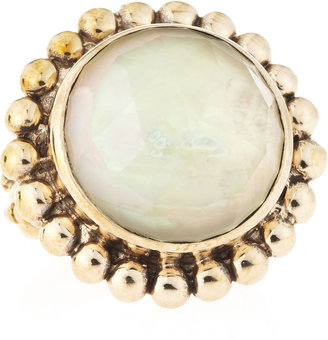 Stephen Dweck Rock Crystal Mother-of-Pearl Round Ring