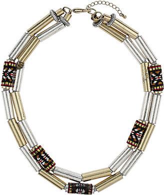 Topshop Tube Multirow Necklace