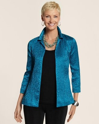 Chico's Travelers Collection Crushed Catalina Jacket