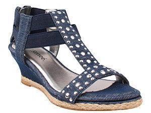 """J. Renee Flax"""" T-Strap Wedge Sandal"""