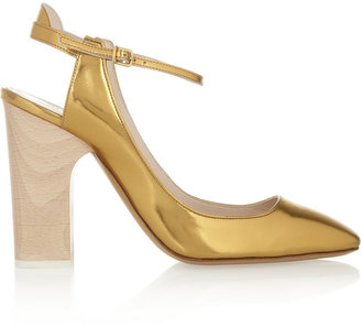 Chloé Metallic leather pumps