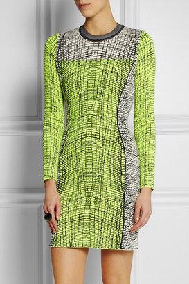 Kenzo Stretch-knit cotton-blend mini dress