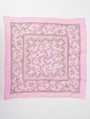 American Apparel Vintage Pink Border Floral Scarf